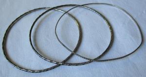 Charmante 800er Armreifen Armbänder mit Randmuster (125706)