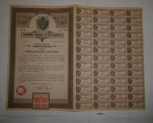 40 Peso Aktie Compañia Minera de los Azules Mérida 2. Januar 1936 (126730)