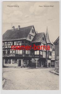 81721 Ak Kaysersberg im Elsass Haus Schmidt-Brief um 1920