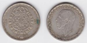 1 Krone Silber Münze Schweden 1944 (124054)