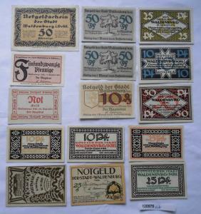 15 Banknoten Notgeld Stadt Waldenburg in Schlesien um 1920 (120975)