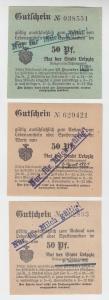 3 verschiedene 50 Pfennig Milch Gutscheine Stadt Leipzig (120673)