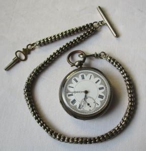 Elegante Taschenuhr mit Schlüsselaufzug & prächtigem Zifferblatt (120026)