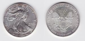 1 Dollar Silber Münze Silver Eagle USA 1999 1 Unze Feinsilber  (119530)