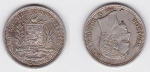 1 Bolivar Silber Münze Venezuela 1960 (124749)