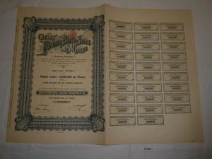 500 Franc Aktie Credit Foncier Belgo Suisse du Mexique Mexiko 1911 (127280)