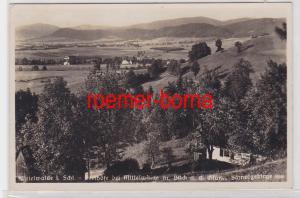 84695 Ak Mittelwalde Międzylesie in Schlesien Totalansicht 1938
