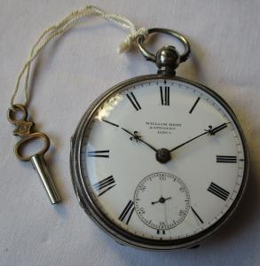 Hochwertige Taschenuhr 925er Silber William Bent London EC vor 1900 (124221)