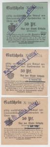 3 verschiedene 50 Pfennig Milch Gutscheine Stadt Leipzig (120820)