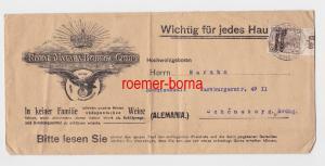 82770 Brief Deutsche Post in Marokko Stempel Tanger 1912