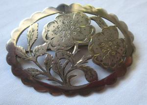 Wunderschöne Trachten Brosche 900er Silber Handarbeit EMA (123140)