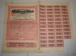1 Schilling Aktie The de Melio Brazilian Rubber Company 1907 (126768)