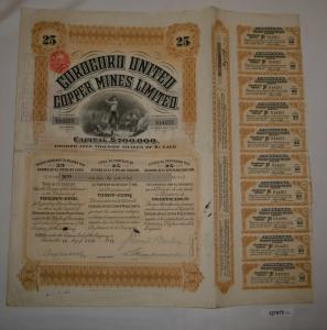 25 Aktien à 1 Pfund Corocoro United Copper Mines Limited London 1911 (127979)