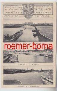 82756 Mehrbild Ak Einweihung des Osthafens Frankfurt am Main 1912