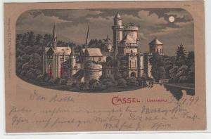 71402 Mondscheinkarte Cassel Löwenburg 1899