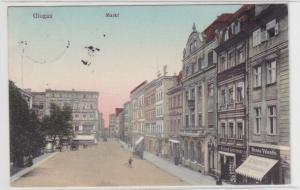 78112 AK Glogau - Markt, Straßenansicht mit Cigarren-Versandhaus 1913