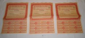 7 Stück Aktien Credit Foncier du Bresil et de L`Amerique du Sud 1939 (128234)