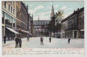 82801 AK Liegnitz - Grosser Ring mit Confections-Haus und Kirche 1906