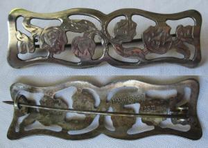 Elegante Brosche aus 835er Silber Handarbeit Rosen Blumen (123227)