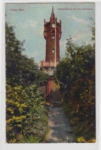 94239 Feldpost AK Olivia Westpreussen - Aussichtsturm auf dem Karlsberg 1918