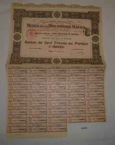 10 Francs Aktie Mines de la Doubovaia Balka Paris 28. Juli 1913 (127514)