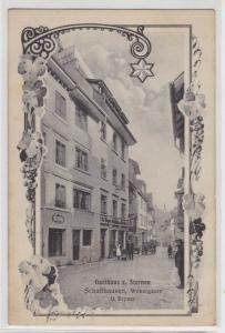 91004 Rahmen AK Schaffhausen - Gasthaus zu Sternen, G. Bryner, Webergasse 1912