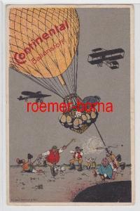 82573 Reklame Humor Ak Continental Ballonstoff 1916
