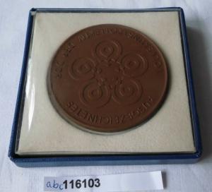 DDR Porzellan Medaille ausgezeichn. Volkskunstkollektiv im Originaletui (116103)