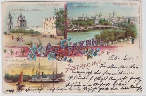 92004 Ak Lithographie Astrachan in Russland Stadtansichten und Wolga 1903