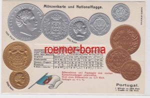 83139 Präge Ak mit Münzabbildungen Portugal um 1920
