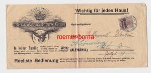 82769 Brief Deutsche Post in Marokko Stempel Tanger 1913