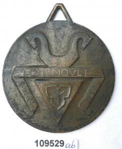 Seltene Bronze Medaille 9. Sängerbundesfest in Hannover 1924 (109529)