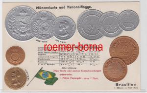63212 Präge Ak mit Münzabbildungen Brasilien um 1920