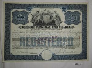 5000 Dollar Aktie Detroit Terminal and Tunnel 19. Mai 1925 (126996)