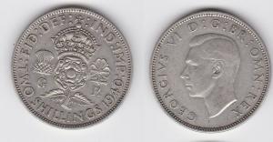 2 Schilling Silber Münze Großbrittanien George VI. 1940 (115686)