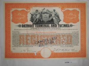 10000 Dollar Aktie Detroit Terminal and Tunnel 18. November 1913 (127334)