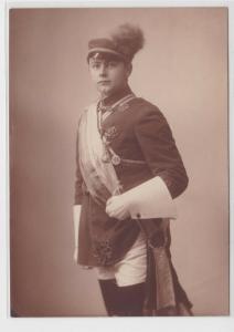 94569 Foto Studentika in voller Montur um 1910