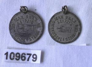 Reklame Medaille Max Grau Leipzig Grimmaischer Steinweg um 1920 (109679)