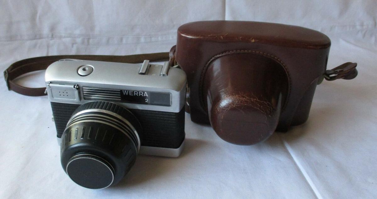 Kamera Werra 2 + Objektiv Carl Zeiss Jena Tessar 2.8/50 Q1 mit Tasche (121892) 0