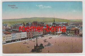 83720 Ak Kroměříž Kremsier Velké nám Marktplatz 1917