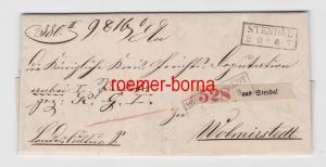 57302 seltener Brief mit Stempel Stendal nach Wolmirstedt 1867