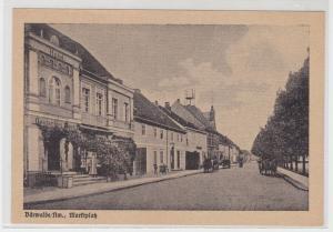 21524 AK Bärwalde Neumark - Marktplatz, Straßenansicht mit Kutschen
