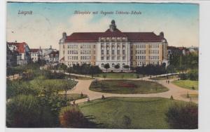 70743 AK Liegnitz - Bilseplatz mit Augusta Viktoria-Schule 1911