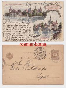 82592 Ganzsachen Postkarte Budapest Déli Oldal Vue Méridionale 1896