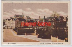 83313 Ak Herborn Partie am Kaiser Wilhelm Denkmal 1916