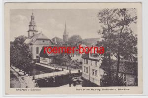 82846 Ak Erbach im Odenwald Partie an der Mümling 1919