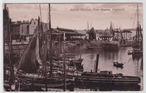 83735 Foto Ak Sutton Harbour Fish Market, Plymouth 1914