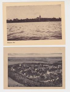 2x 68939 AK Mohrin in der Neumark - Luftaufnahme und Mohriner See
