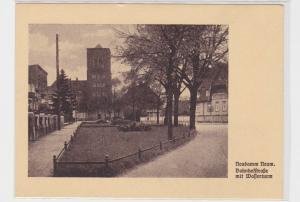 61534 AK Neudamm Neumark - Bahnhofstraße mit Wasserturm