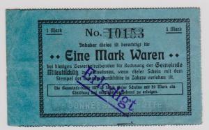 1 Mark Banknote Notgeld Mikultschütz Donnersmarckhütte in Zabrze um 1920(120911)